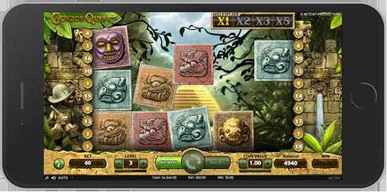 Gonzo's Quest w wersji mobilnej